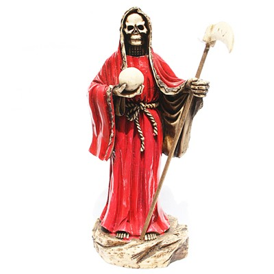 Santa Muerte Roja Hueso