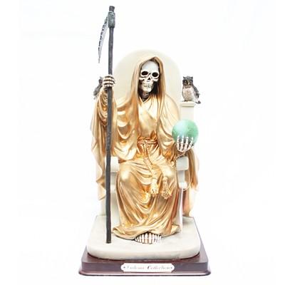 Figura Santa Muerte Dorada
