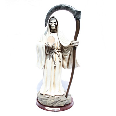 Santa Muerte Blanca bola cristal