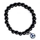 Pulsera Onyx y símbolo de paz